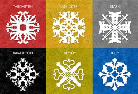 Dual Family House Plans diy paper game of thrones house sigil snowflakes