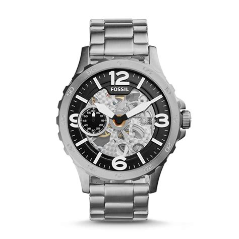 Fossil Me3129 Nate Wound Mechanical Silver Silver Stainless safety reliability and risks associated with water and gas pipelines nato science for