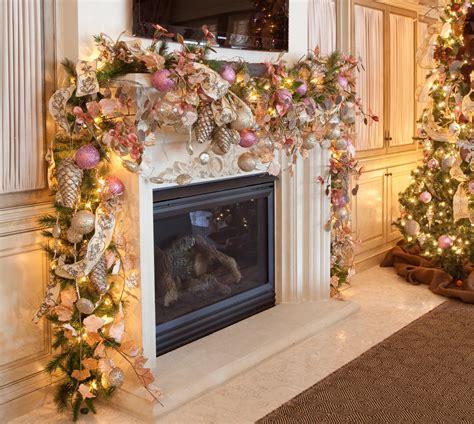 garland ideas christmas fireplace garland ideas inspirationseek com