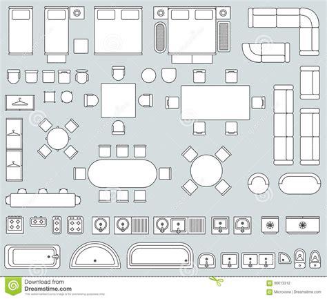 sofa draufsicht set top view for interior icon design sofa armchair