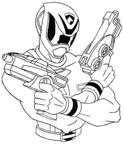power rangers spd shooting ready coloring page kids