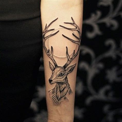 on deer geometric deer and stag
