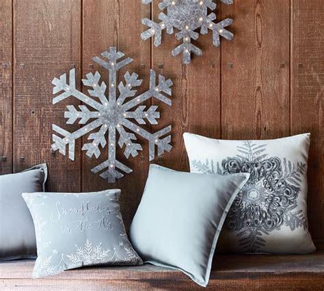 pottery barn indoor outdoor sofa snowflake in the air indoor outdoor pillow pottery barn