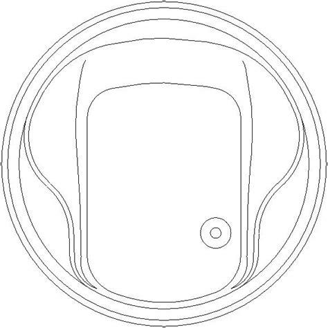 vasche da bagno dwg vasca rotonda formato dwg diametro 1 60