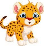 Cute baby cheetah cartoon sitting quot stock image and royalty free