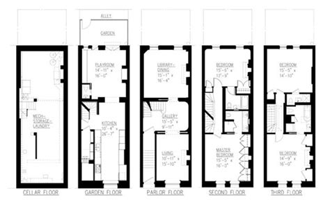Narrow Townhouse Floor Plans | 1000 images about narrow townhouse on pinterest blue