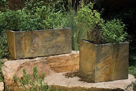 Slate Planters by Slate Planters From Forest Outdoor Planter