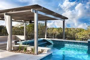 Backyard Roofed Patio Pool Shade Ideas 7 Ways To Cover Your Swimming Pool