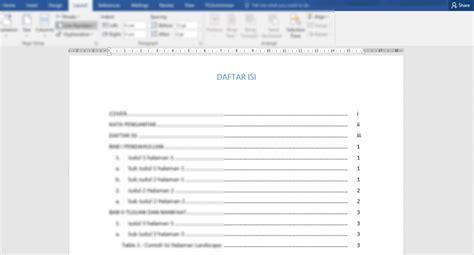 membuat daftar isi otomatis  word praktis buat