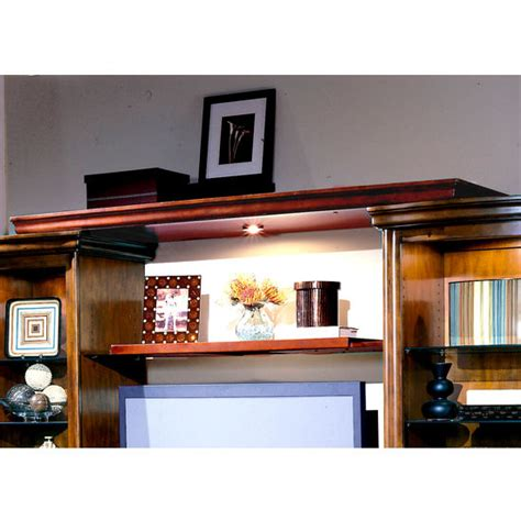 entertainment center components light bridge and shelf