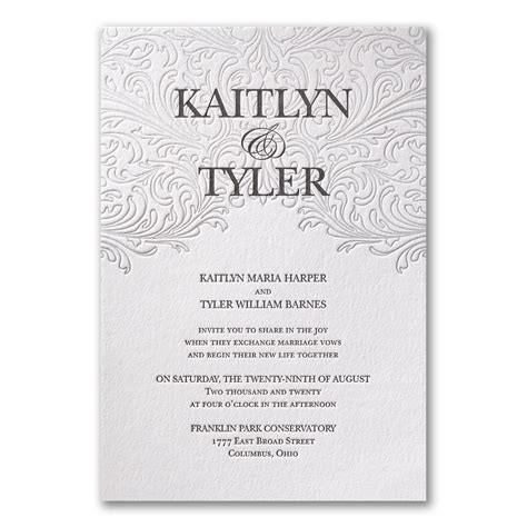 Carlson Craft Seal And Send Wedding Invitations