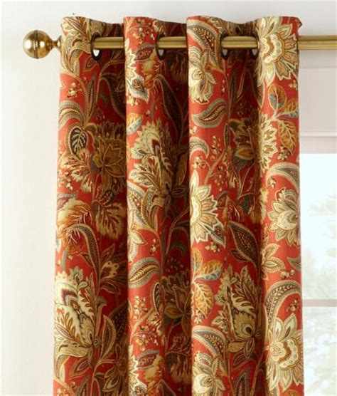 jacobean drapes paisley jacobean lined grommet top curtains country