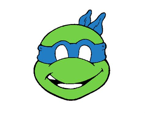 colored page ninja turtles mask painted by user not registered