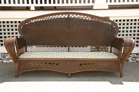 Antique Rattan Furniture by Antique Wicker Sofa And Chairs At 1stdibs