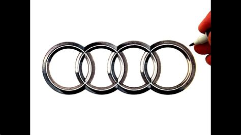 audi logos how to draw the audi logo