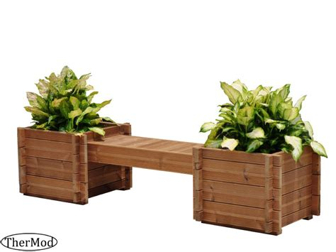 wooden bench with planters best price wooden planter box bench