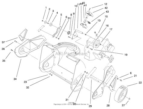 toro ccr 2000 parts diagram toro 38170 ccr powerlite snowthrower 2000 sn 200000001