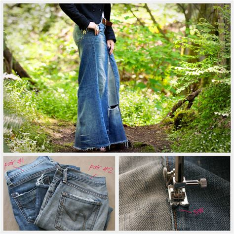 recycled denim maxi skirt free sewing pattern favecrafts