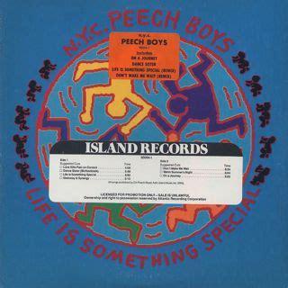 N Y Records N Y C Peech Boys Is Something Special Lp Island Records 中古