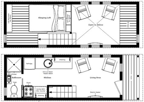 Tony House Floor Plan by Humble Homes Tiny House Plans