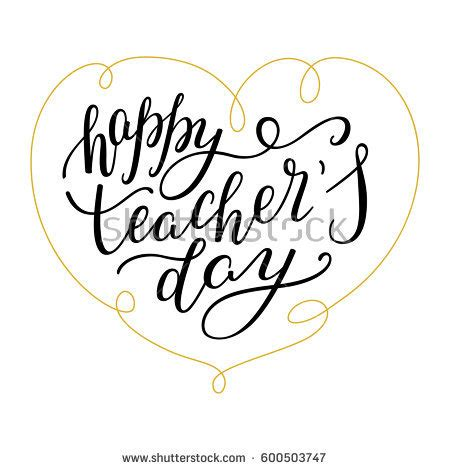 happy teachers day card template happy teachers day lettering stock vector