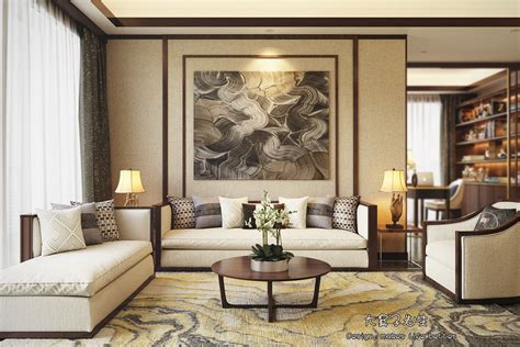 modern decor beautiful apartment interior design with chinese style