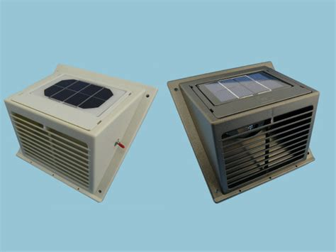 Solar Powered Shed Fan by Solar Wall Vent Fan Day Extractor Houses Sheds Greenhouses Etc Ebay