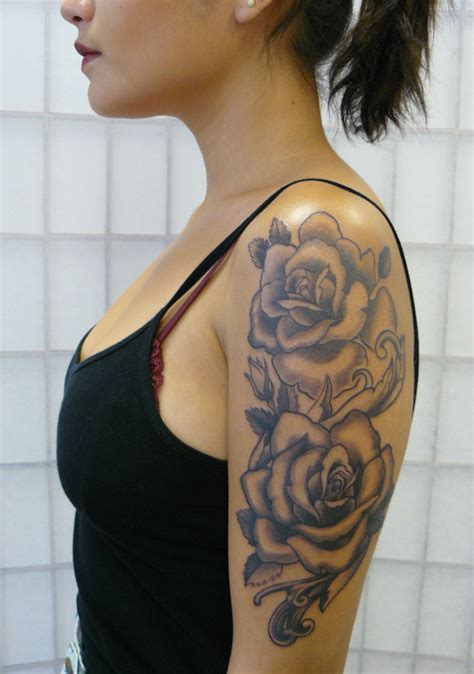 rose tattoo on shoulder tumblr roses on