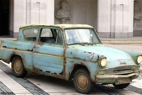 ford anglia harry potter harry potter s flying ford anglia up for auction ibnlive