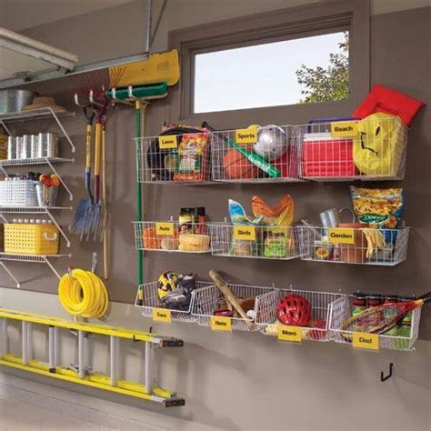 organizing a garage picture of practical and comfortable garage organization
