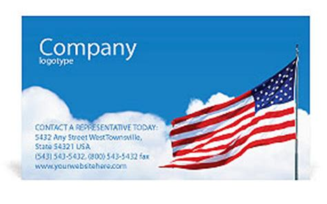 American Flag Business Card Templates Free by American Flag Business Card Template Design Id
