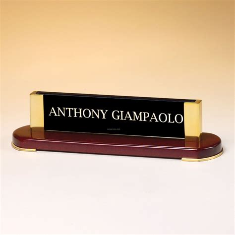 engraved desk name plates personalized glass desk nameplate hostgarcia