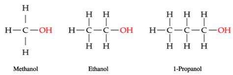 propanol diagram retrouver la fonction alcool et la terminaison des noms d