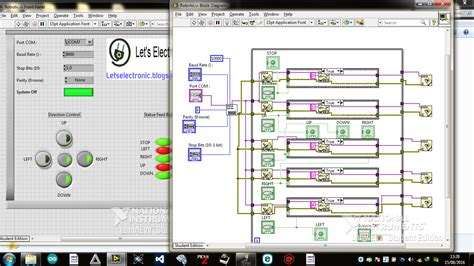 Labview Based Projects Readydaq let s electronic your own robot using labview