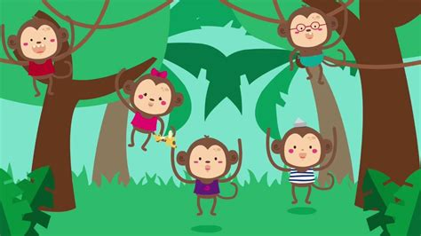 monkey swinging in the tree song five little monkeys swinging in a tree song for kids fun
