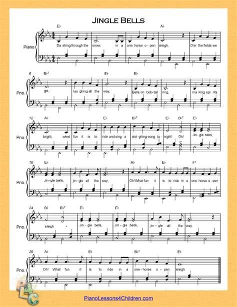 printable sheet music for jingle bells jingle bells lyrics videos free sheet music for piano