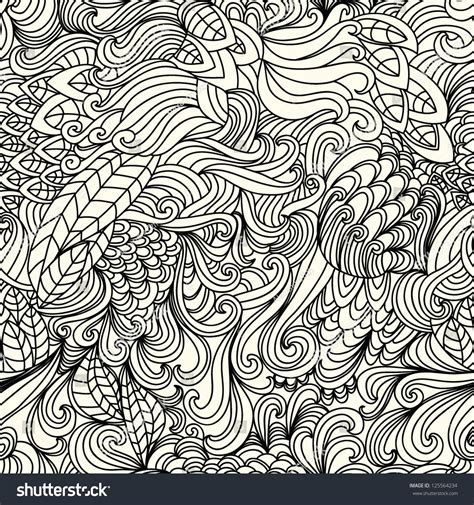 doodle vector stylish doodle vector floral seamless pattern 125564234