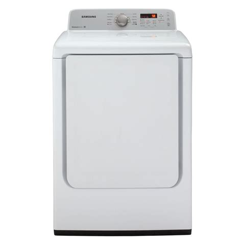 samsung dryers 7 2 cu ft electric dryer in white