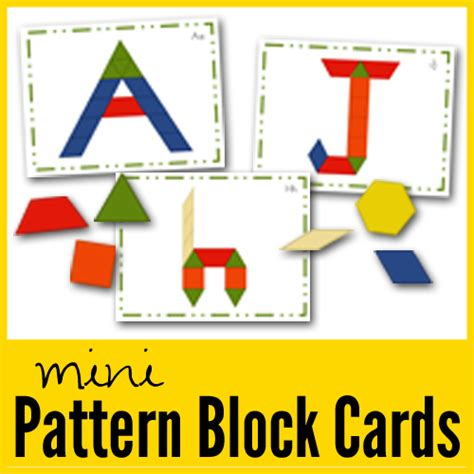 pattern block cards pattern block mats and cards new printables