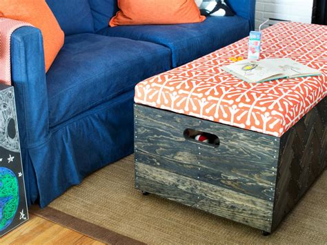 herringbone wood toy box storage ottoman hgtv