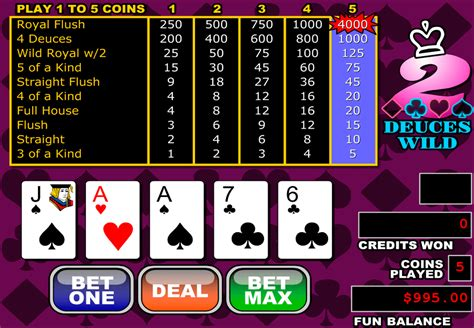 play deuces wild video poker  rtg