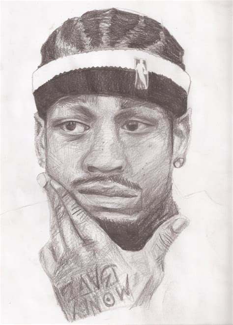 sketch book of washington irving allen iverson by cfw11mmbs on deviantart