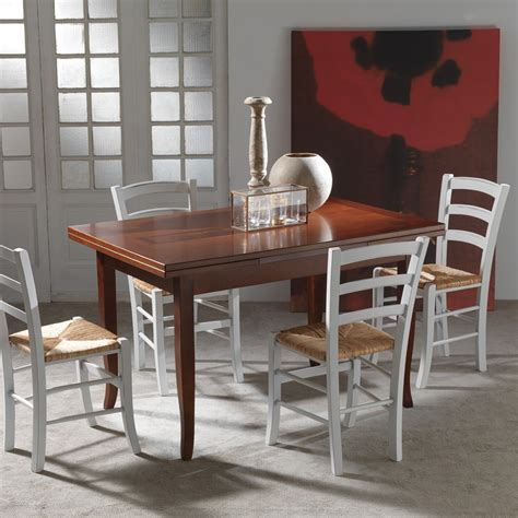tavolo allungabile da cucina tavolo cucina legno noce stile shabby classico o country