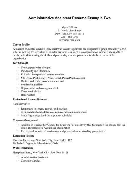 28 sle cover letter for administrative assistant with no