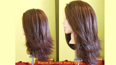 pictures of step haircuts long bob haircut tutorial step by step long layered