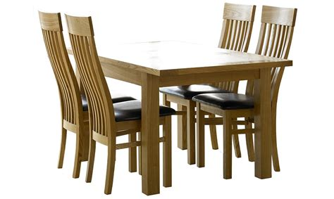 bethany small extending dining table 4 wooden chairs