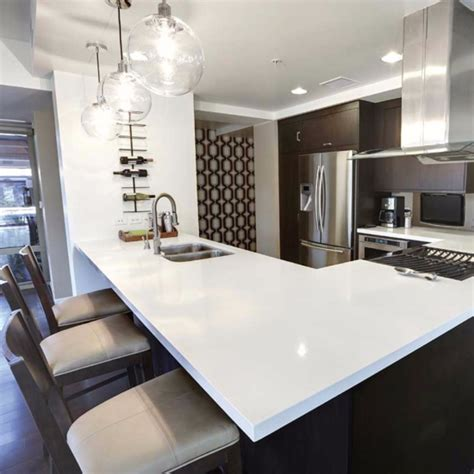 White Kitchen Cabinets With Dark Countertops Current Obsessions A Modern Makeover With Quartz Countertops