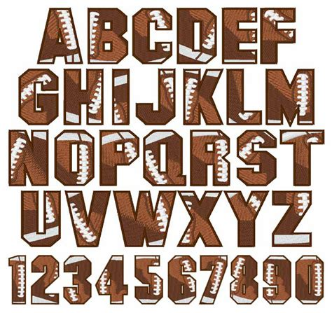 Letter Sle For Sports Football Font By Embroidery Patterns Home Format Fonts On Embroiderydesigns