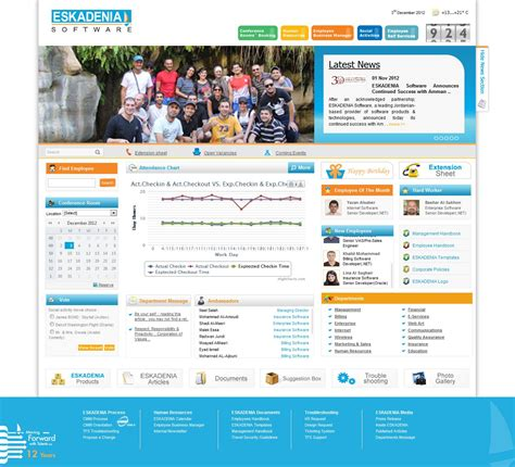 intranet portal design templates eskadenia software eskadenia software employees use the