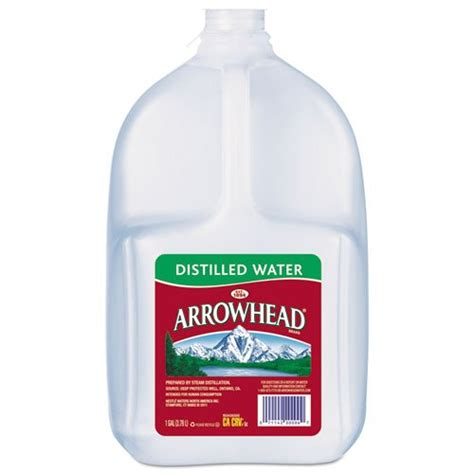 where would i find distilled water at stop and shop arrowhead distilled water 1 gal includes six bottles arrowhead xx ilag